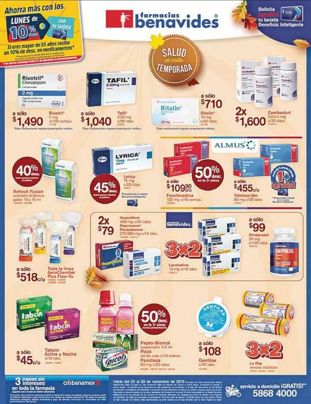 Farmacias Benavides: Ofertas vigentes al Jueves 28 de Noviembre