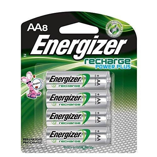 Amazon: Paquete de 8 pilas Energizer recargables AA, 2300 mAh