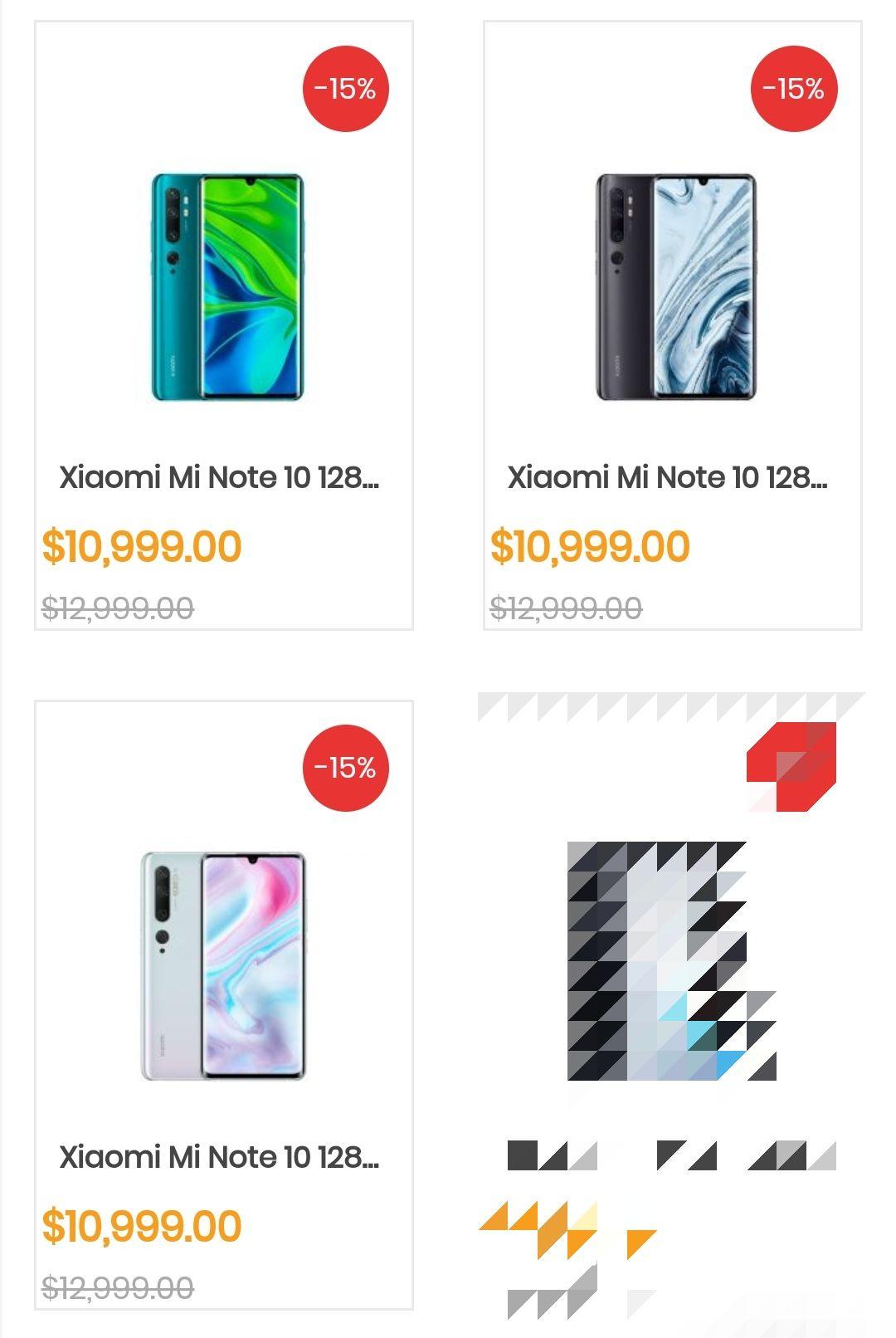 Doto: Xiaomi Mi Note 10 6/128 (Verde, Blanco o Negro)