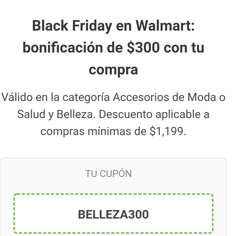 Black Friday en Walmart: Descuento de $300 en compras de $1199