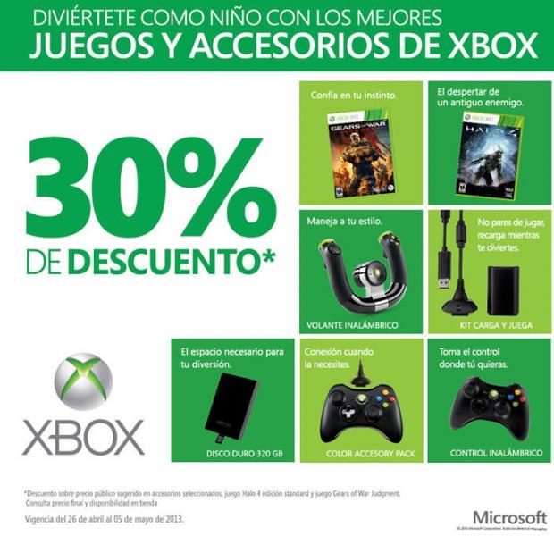 Halo 4 o Gears of War Judgement $699 y 30% de descuento en accesorios