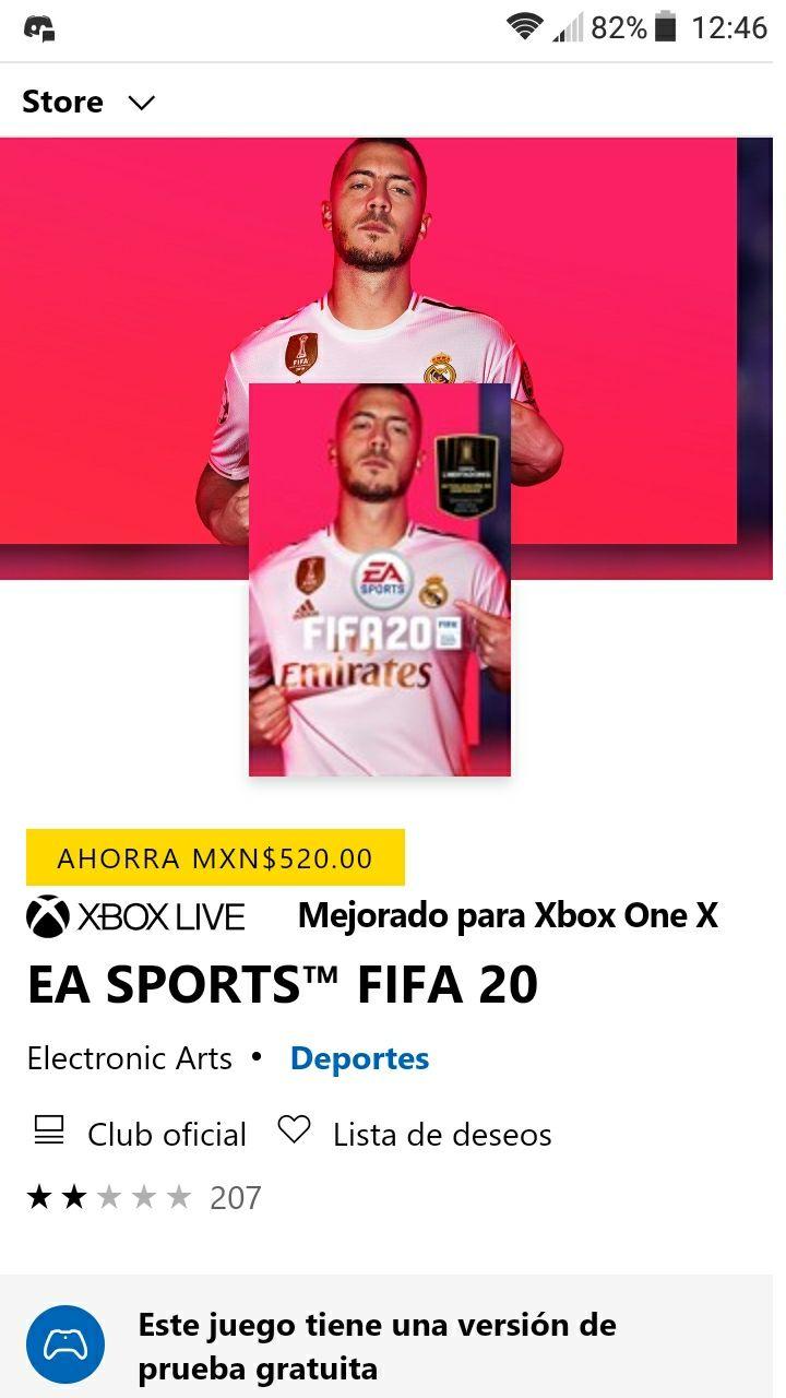 Microsoft Store: FIFA 20 en $780