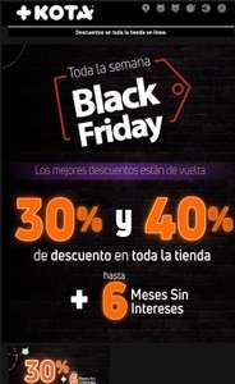 Maskota Black Friday +kota del 30 al 40 % en toda la tienda
