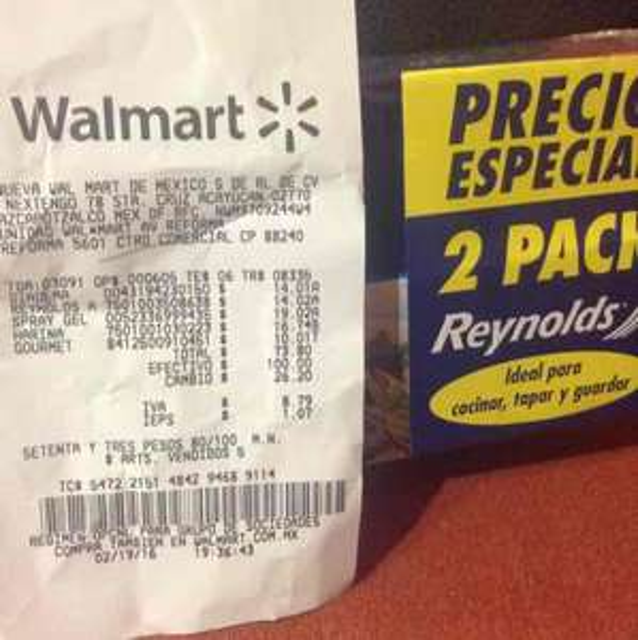 Walmart: Paquete armando de aluminio Reynolds a $14.02