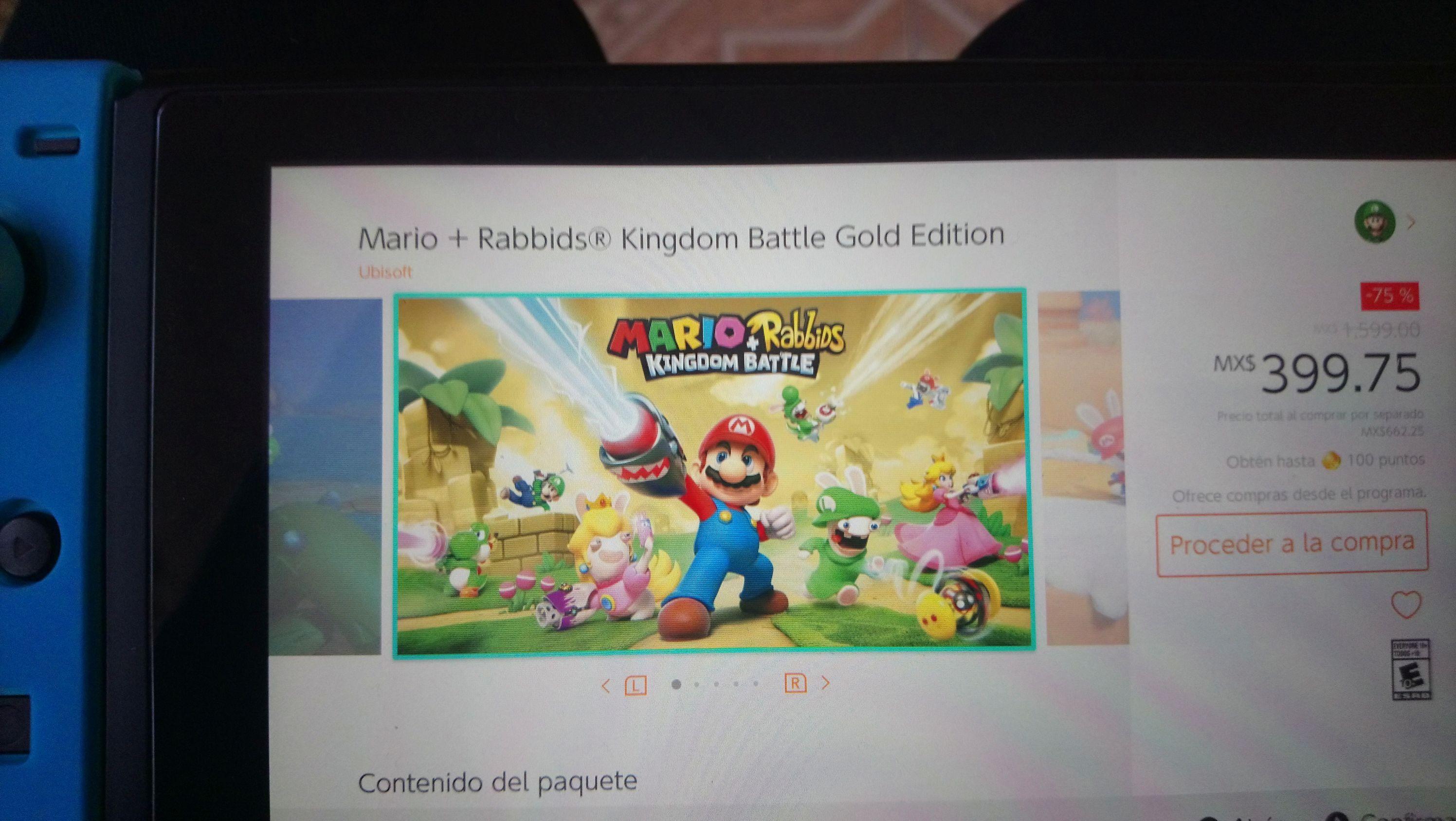 Nintendo eShop: Mario + Rabbids Kingdom Battle Gold Edition
