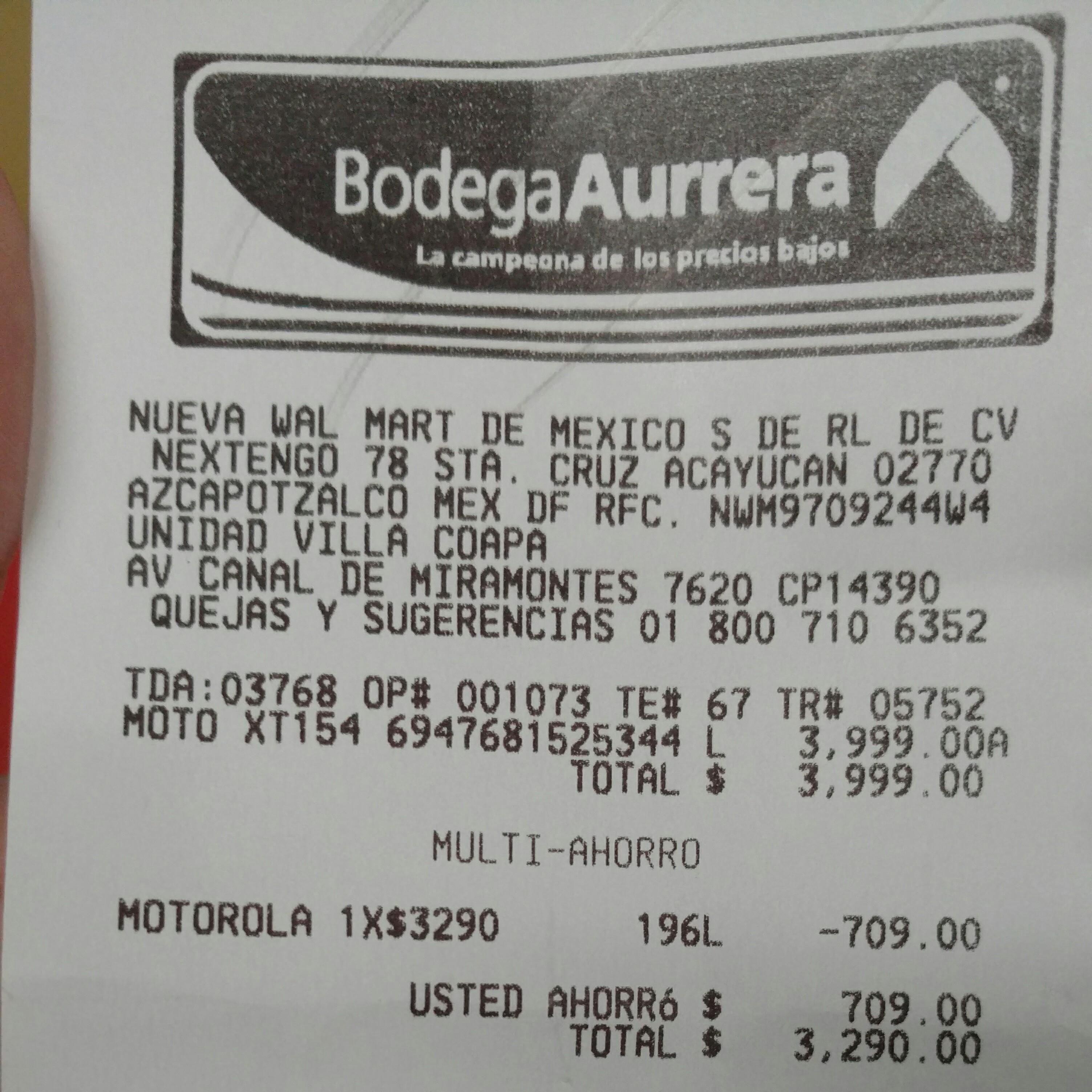 Bodega Aurrerá: Moto G 3a Generación 16GB en $3,290 y 2a Generación en $1,990