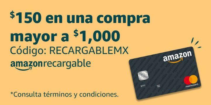 Amazon: Black Friday $150 de descuento en compras mayores a $1000 (Amazon Recargable)