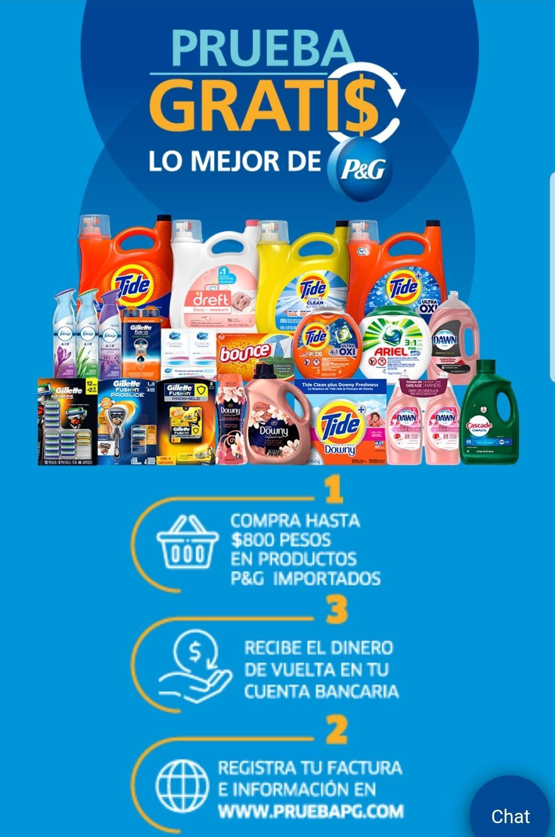 Prueba gratis en productos P&G