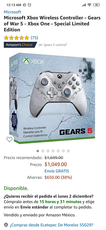 Amazon: Control Xbox one Gears 5