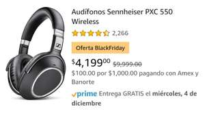 Amazon: Audífonos Sennheiser PXC 550 Wireless