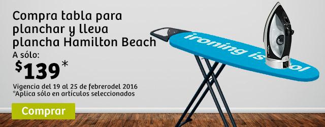 Soriana: Plancha Hamilton Beach a $139 comprando burro