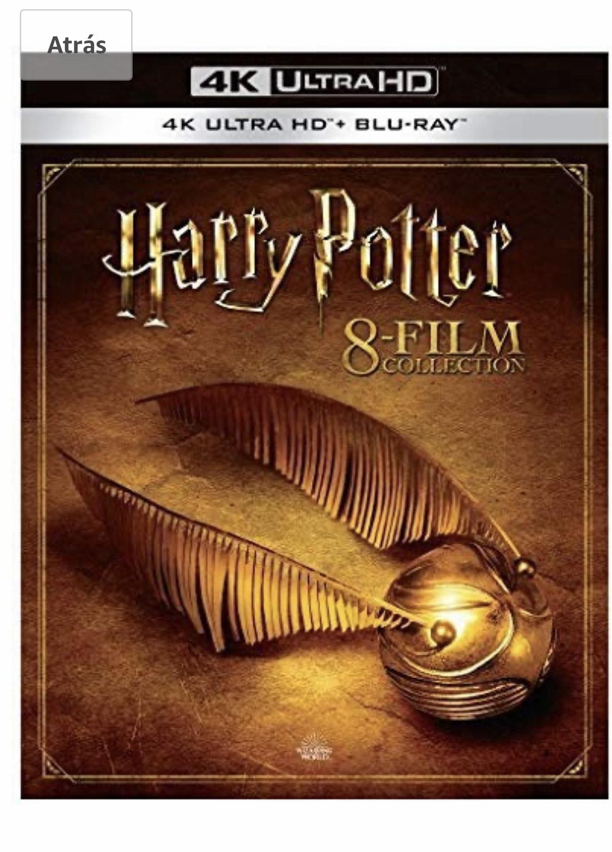 Amazon México la saga completa de Harry potter 8 discos en Blu-ray 4K UHD