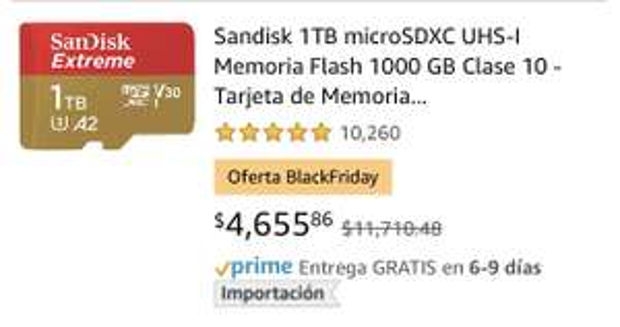 Amazon: SanDisk U3 1TB! LEER PRIMERO! PREMIUM.