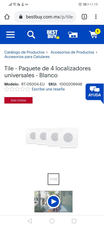 Best buy:Tile paquete de 4 localizadores