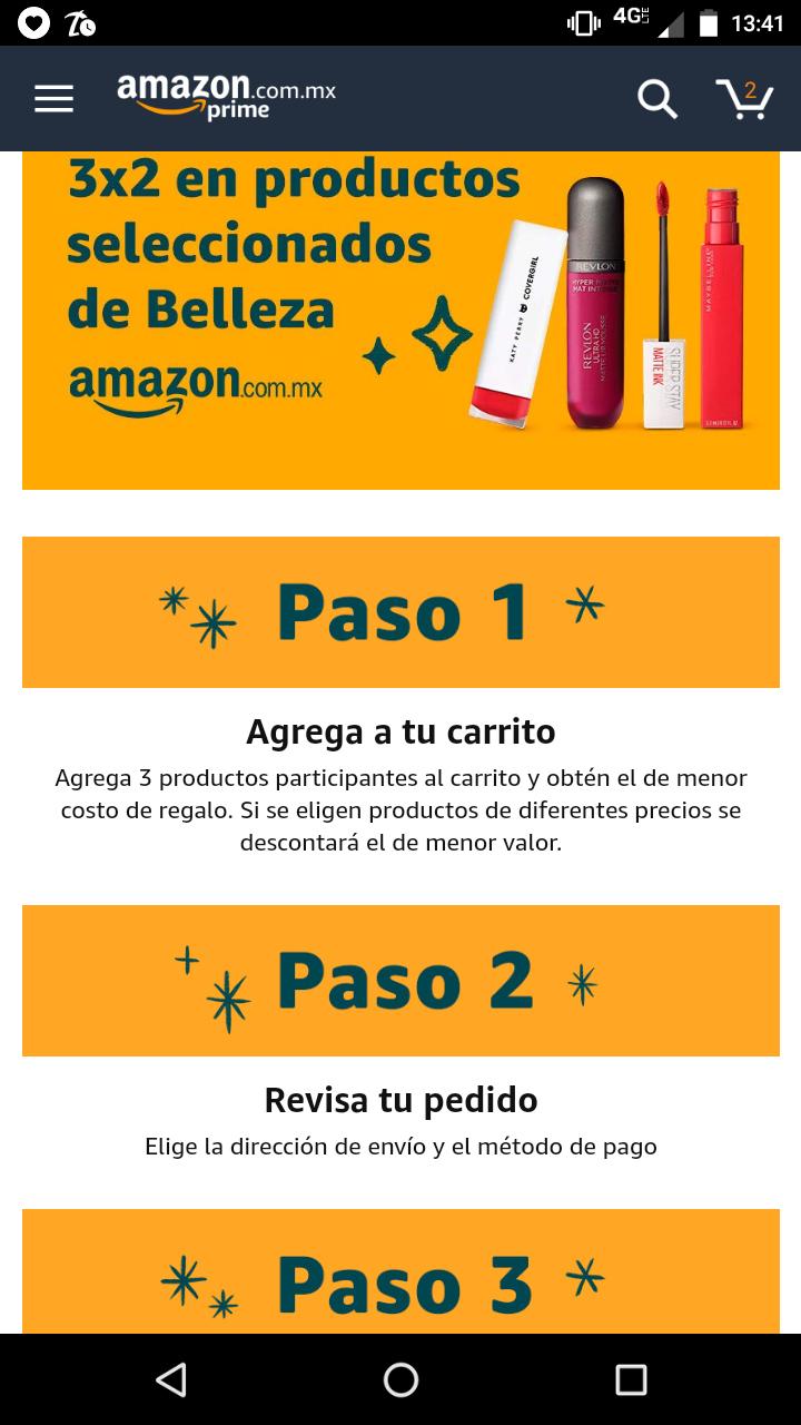Amazon: 3x2 en productos de belleza (seleccionados)