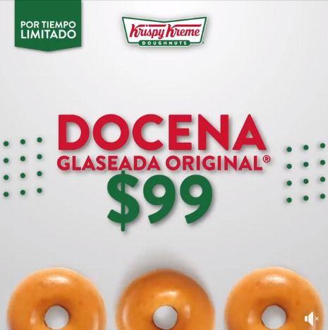 krispy kreme Docena de Glaseada Original a $99 pesos, o unos Krispy Bites gratis en la compra de una Docena Select