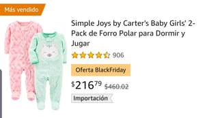 Amazon: 2 Pack Mameluco marca Carter's