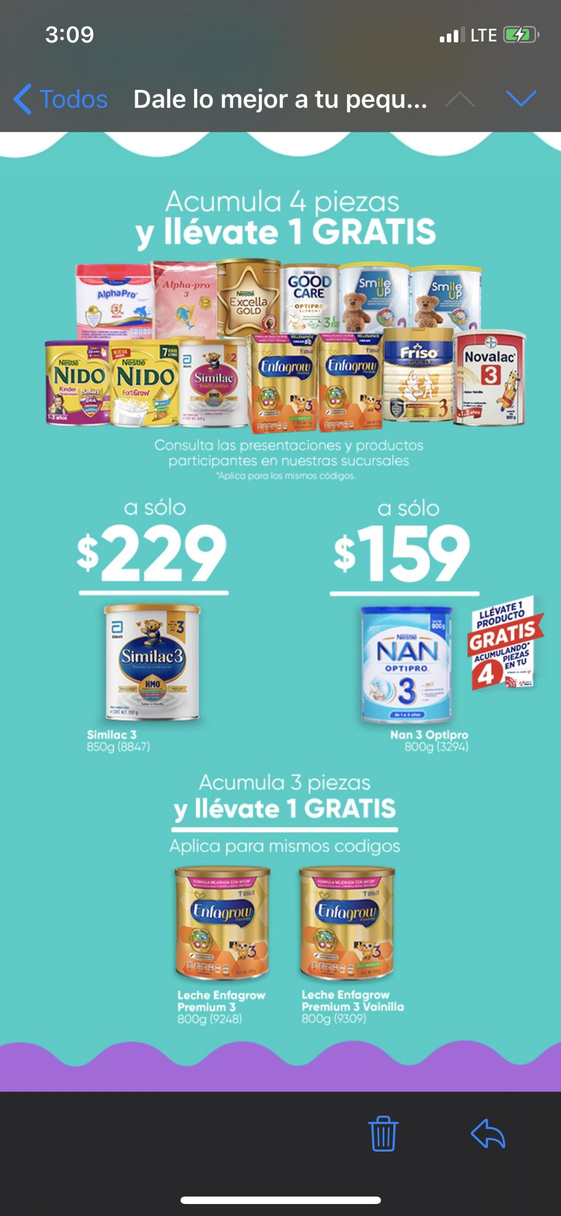 Farmacias del ahorro leche para bebe Compras 4 te llevas 1 y de la marca enfamil compras 3 llevas 4