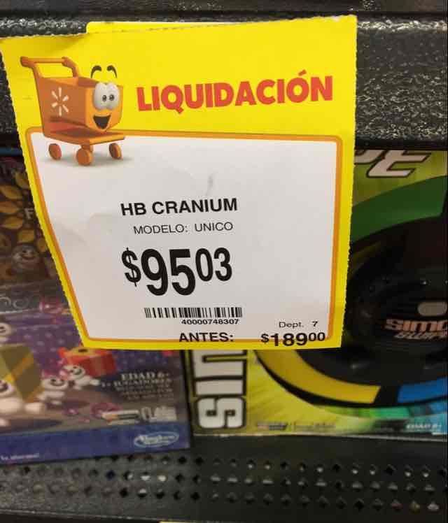 Walmart: Juego de Mesa Cranium Jr a $95.03