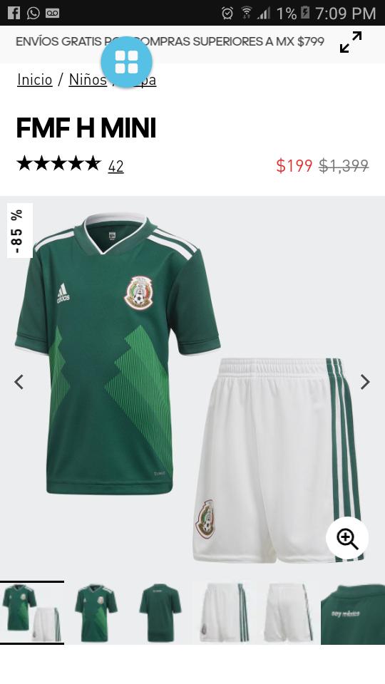 Adidas: Uniforme Selección Mexicana NIÑO