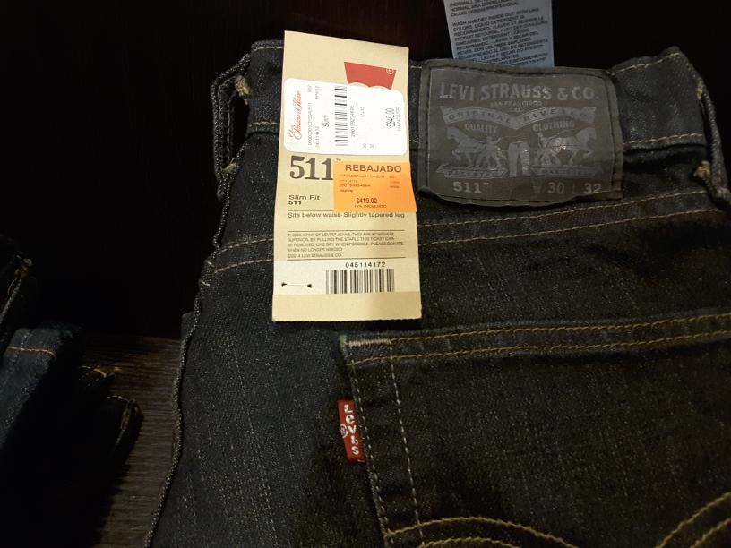 Palacio de Hierro Monterrey: pantalon Levi's modelo 511 a $420 pesos