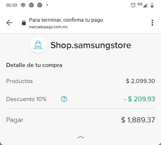 Samsung Store: Galaxy Buds (pagando con Mercado Pago)