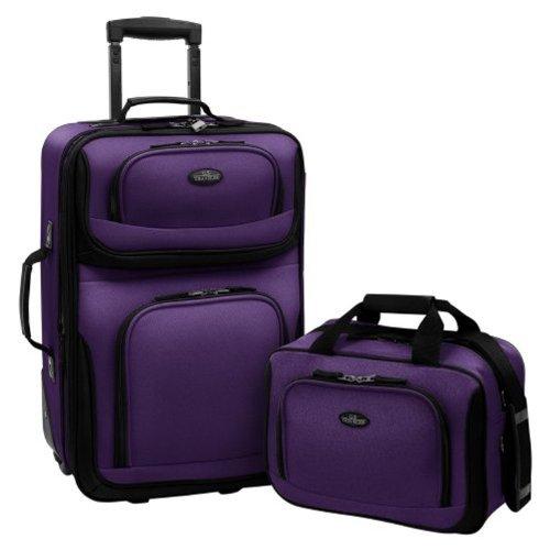 Amazon: 2x1 U.S. Traveler Rio - veliz con ruedas extensible Rio Rugged - Juego de equipaje de mano extensible (2 piezas)