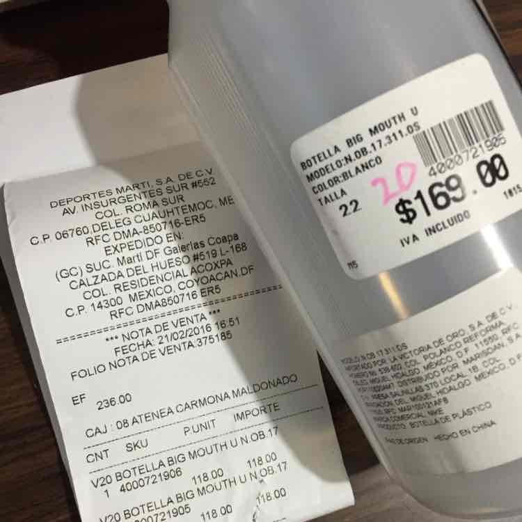 Martí: botellas, playeras, tenis con 20% hasta 50 de descuento