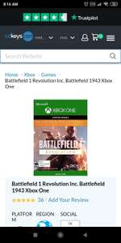 cdkeys Battlefield 1 Revolution