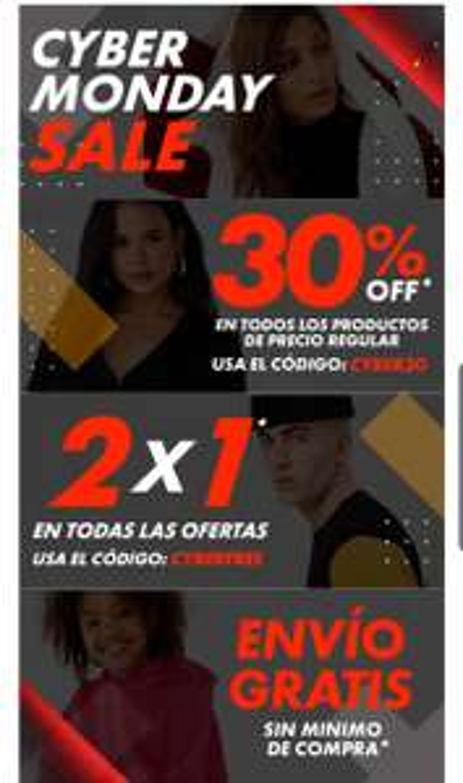 Forever 21 CyberMonday! Rebajas 2x1, 30% de descuento y envió gratis sin mínimo de compra.