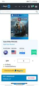 cdkeys God Of War 4 para PS4