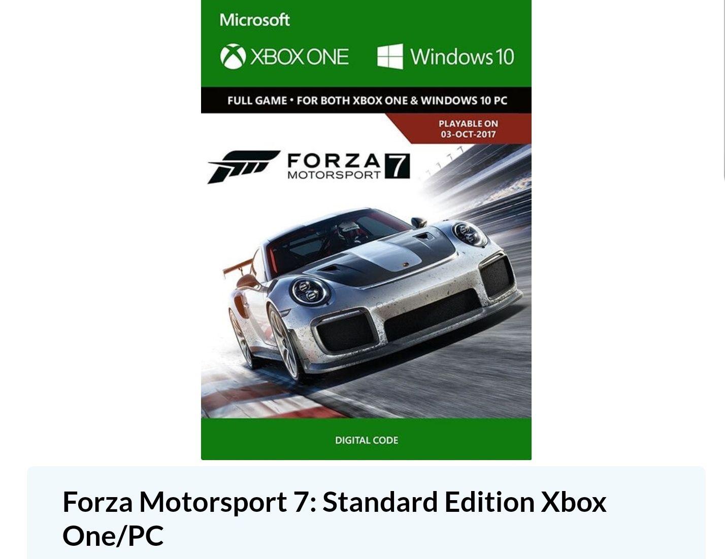 cdkeys Forza 7 a muy buen precio