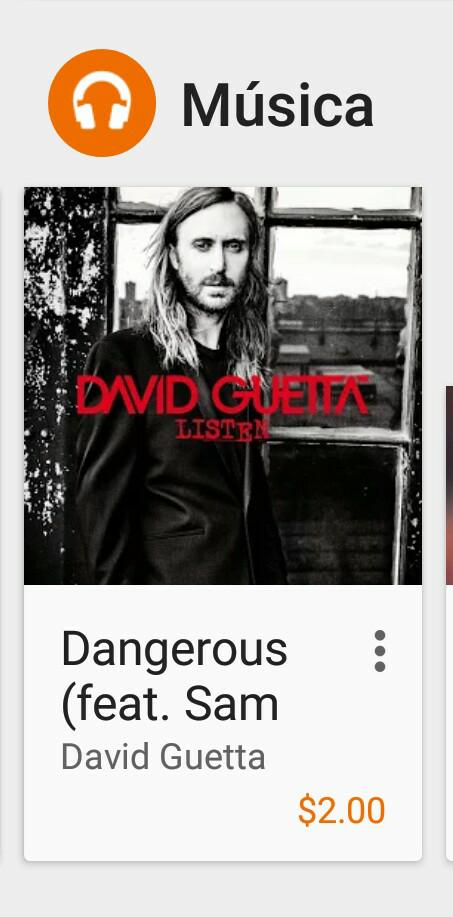 Google Play: Canción Dangerous $2 pesos