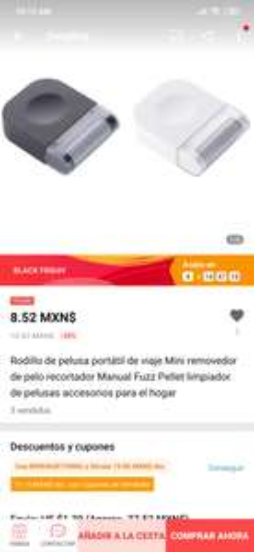 AliExpress: Rodillo de pelusa portátil de viaje Mini removedor de pelo recortador