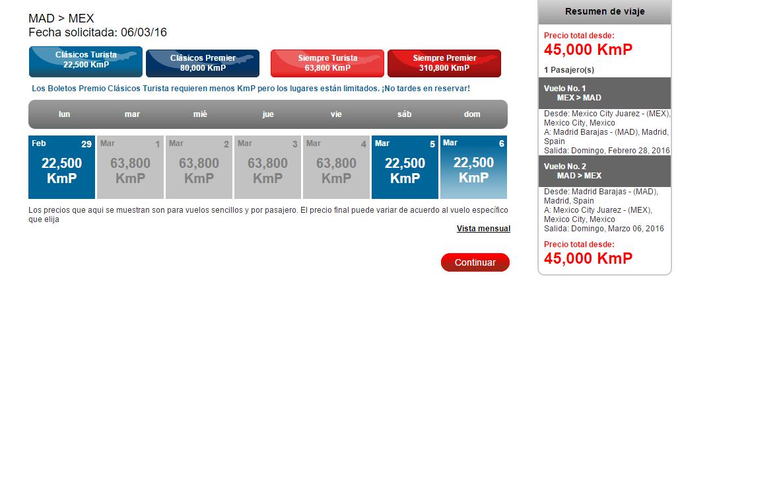 Club Premier: 50% de descuento en vuelos a Europa con Kilómetros Premier