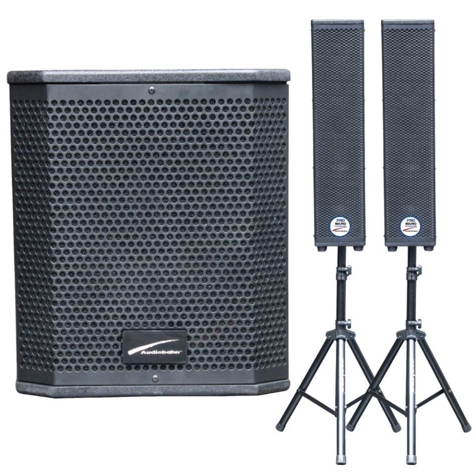 Walmart: Sistema de Audio Profesional Subwoofer de 12 pulgadas más 2 Torres 4×4 AUDIOBAHN ASUB212C