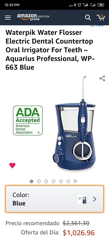 Amazon: Waterpik Water Flosser Electric Dental Countertop Oral Irrigator For Teeth - Aquarius Professional, WP-663 Blue