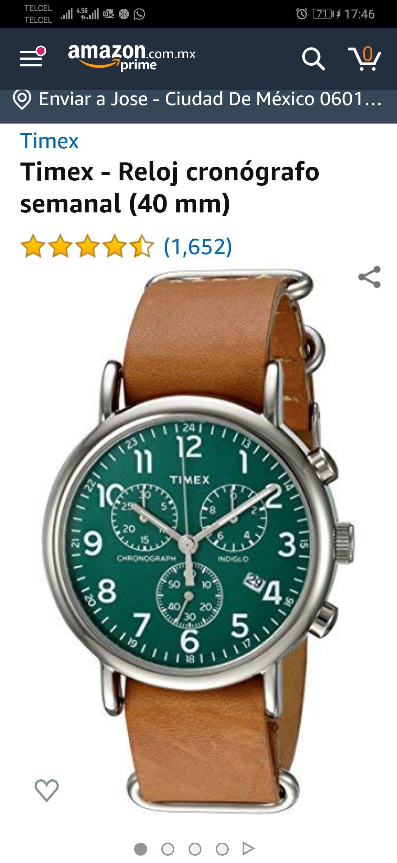 Amazon: Reloj Timex Weekender 40mm, pulsera de Piel