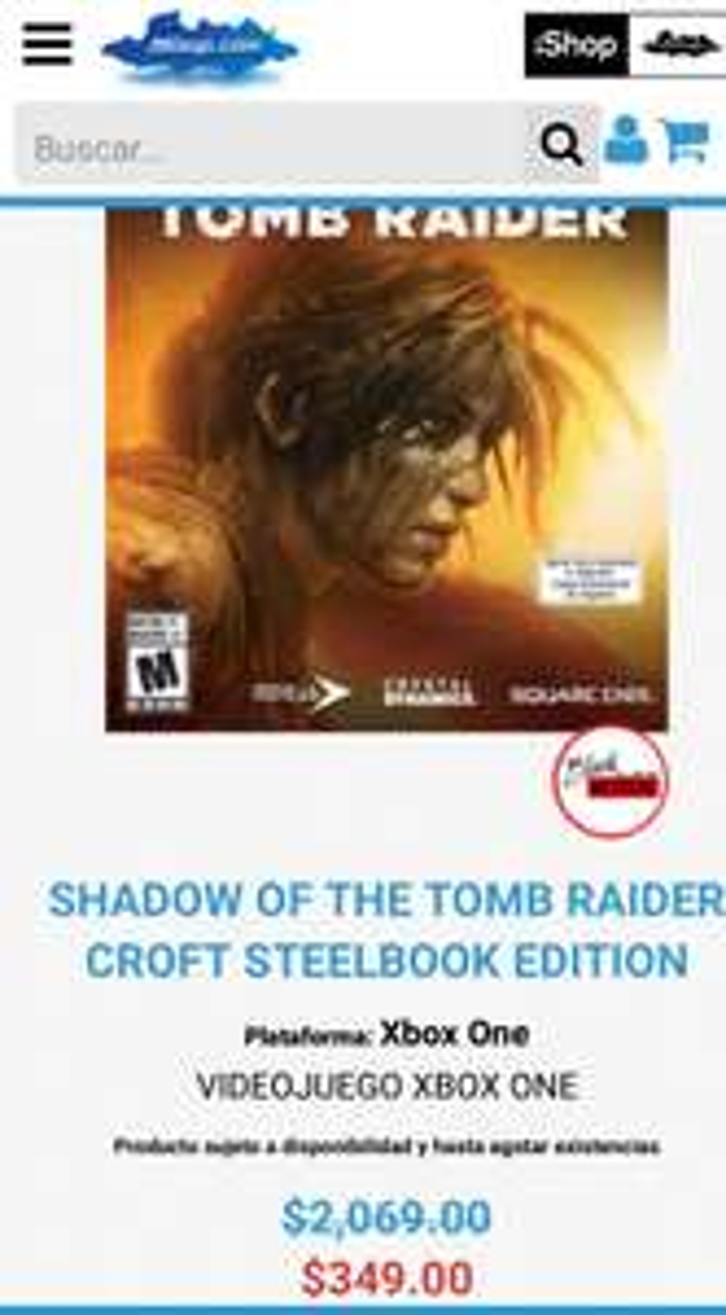 Mixup: shadow of the tomb rider edición Croft steelbook para Xbox one
