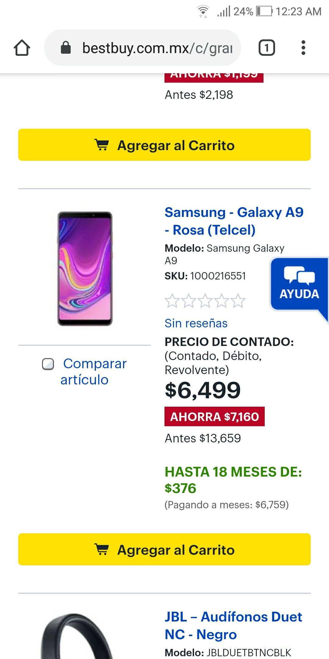 Bestbuy: Samsung galaxy A9 rosa