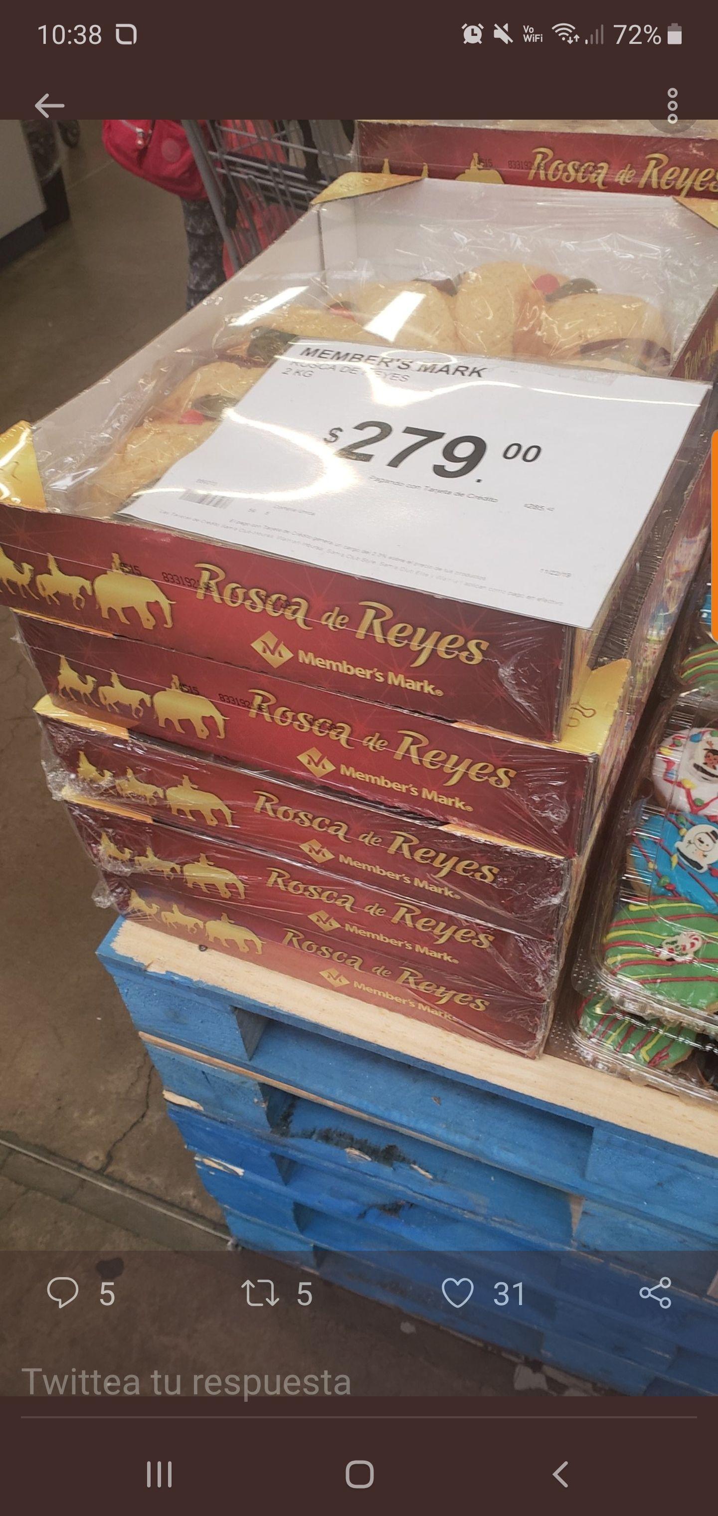 Sam's Club: Rosca de Reyes