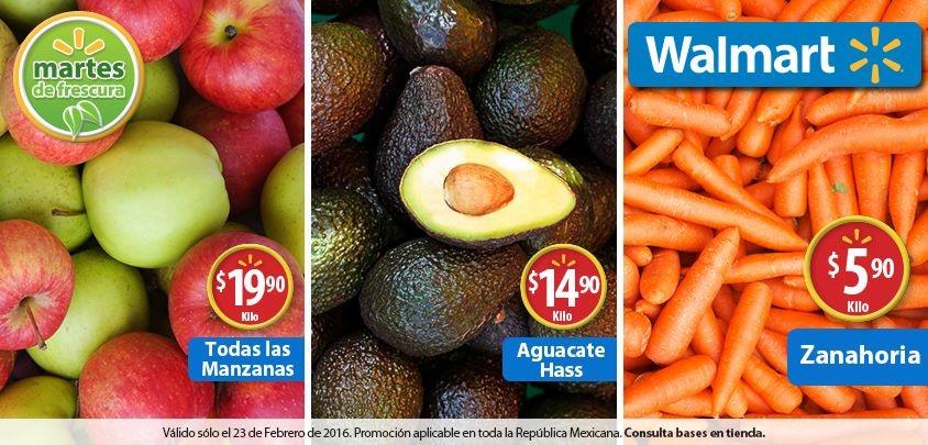 Martes de frescura en Walmart febrero 23: Todas Las Manzanas a $19.90 el kilo y más