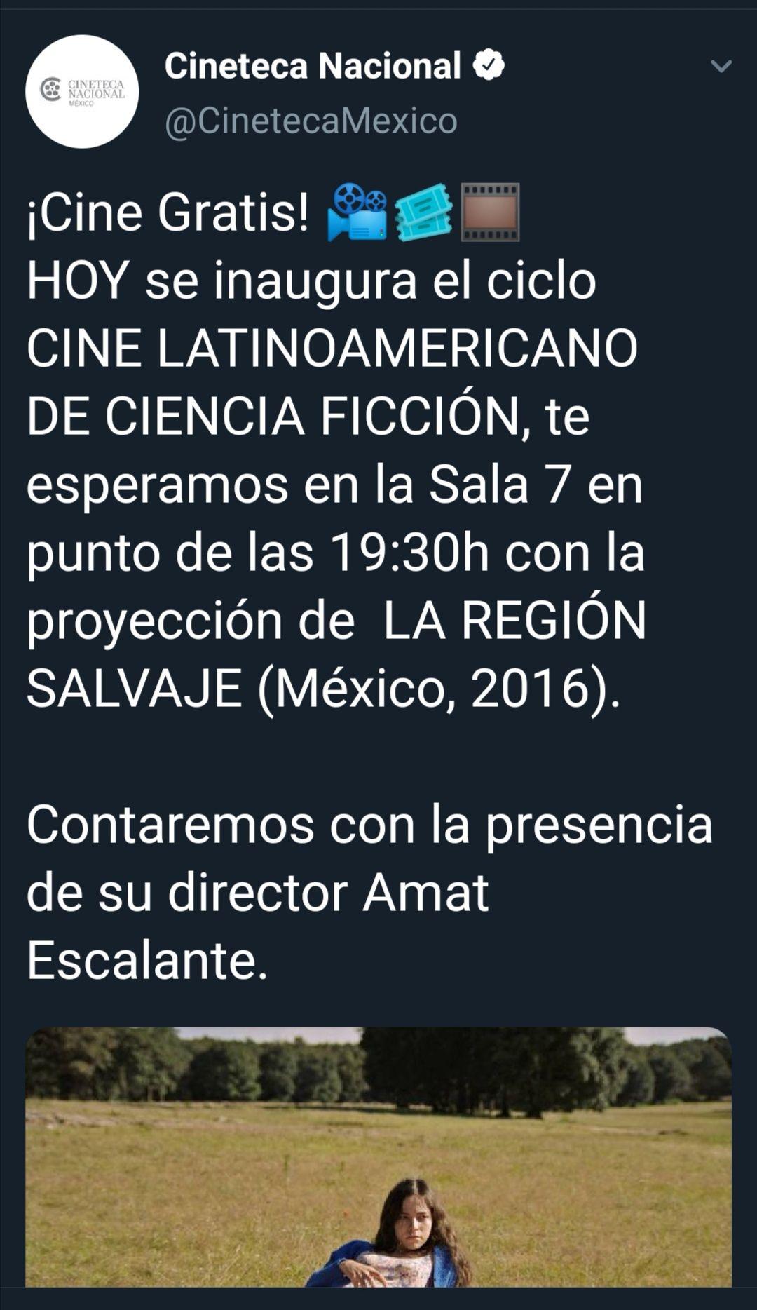Cineteca Nacional Cine gratis