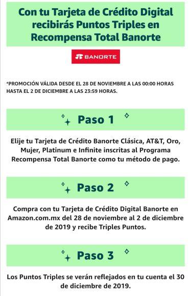 Recompensa Total Banorte: Puntos triples por compras en Amazon con TCD