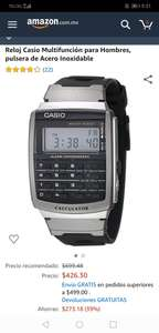 Amazon: Casio calculator acero