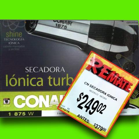 Bodega Aurrerá: Secadora PROFESIONAL ionica Conair a $249.02 / $449 en otras tiendas