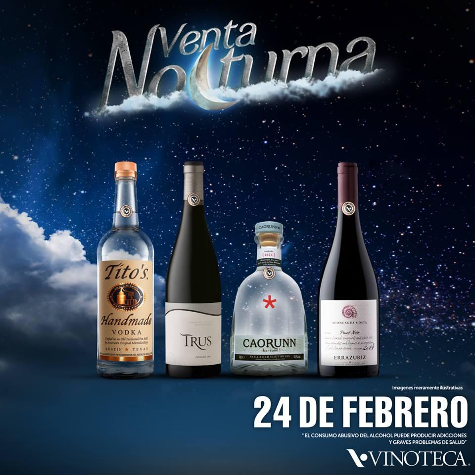Vinoteca venta nocturna 24 de febrero