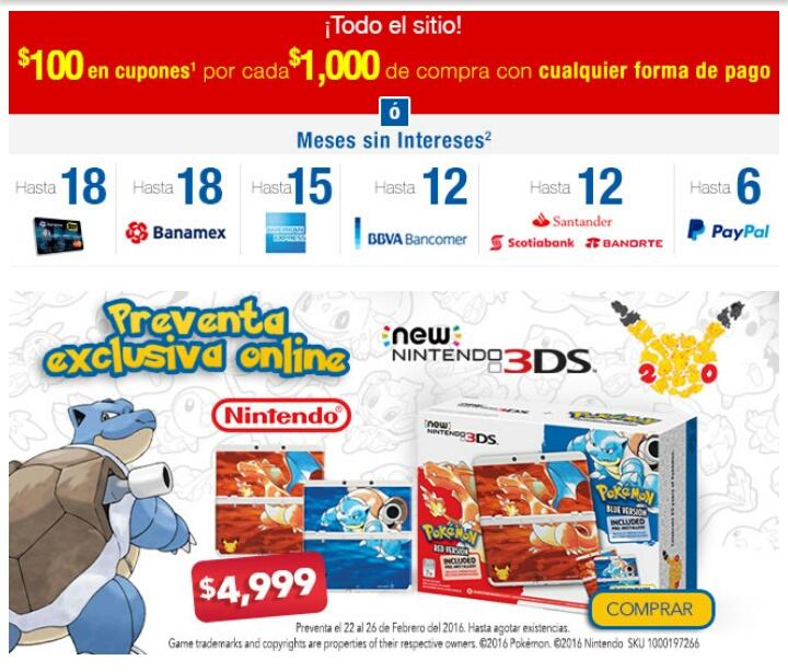 Best Buy en línea: Preventa New 3DS Pokemon 20 aniversario exclusivo online