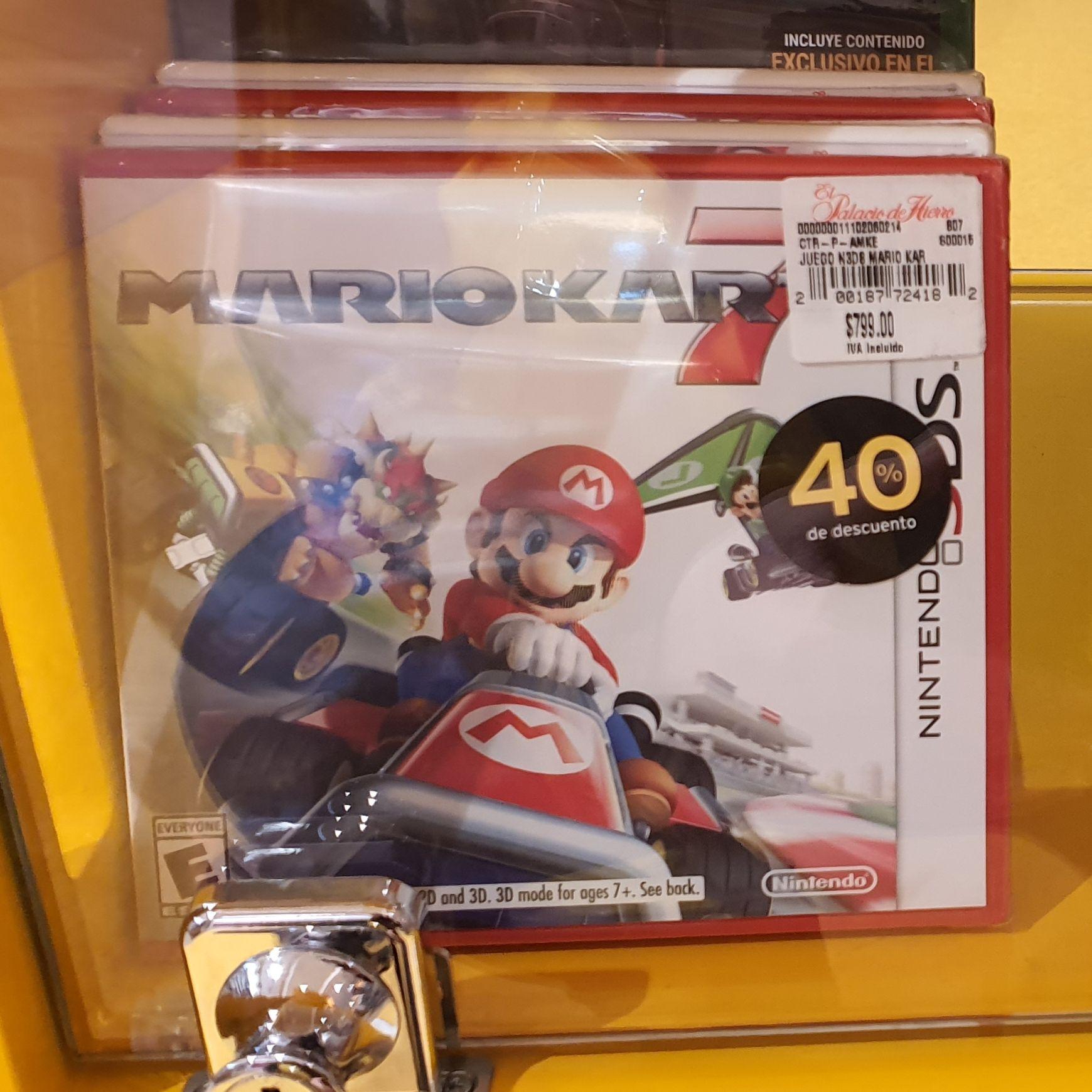 El Palacio de Hierro: Mario Kart 7, Megaman y Kirby's Extra Epic Yarn para Nintendo 3DS