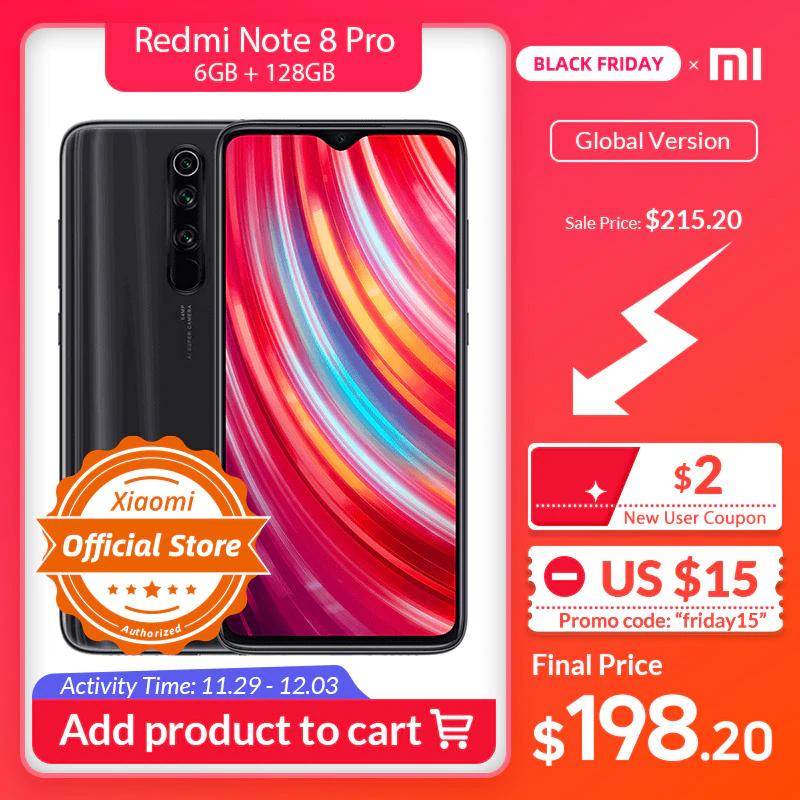 Aliexpress: Xiaomi Redmi Note 8 Pro Global 128GB INCLUYE DHL Y PAGO A 6 MESES